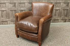 Leather Armchair Vintage Antique Style Brown Leather Armchair Fireside Chair The