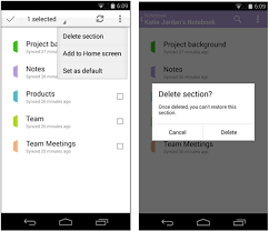 onenote app for android onenote for android update create notebooks sections and more