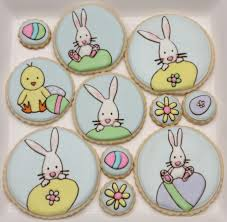 Decorated Easter Bunny Cookies by Decorated Easter Cookies Sweetopia