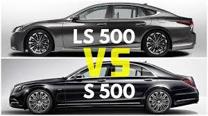 lexus better than mercedes 2018 lexus ls 500 vs mercedes s500