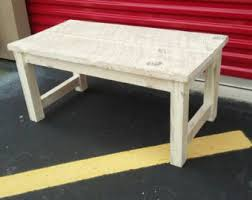 White Distressed Wood Coffee Table White Coffee Table Etsy