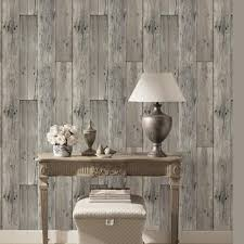 haokhome 8e022 woods textured wallpaper roll gray wood panel home