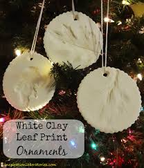 white clay leaf print ornaments inspiration laboratories