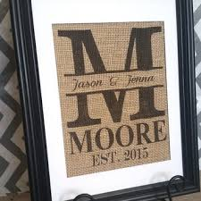 monogrammed wedding gift personalized wedding gift custom burlap from allaboutthenames on