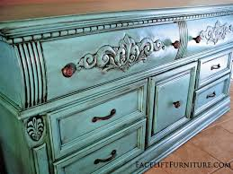 Painted Furniture Ideas Before And After Turquoise Dresser Glazed Black Before U0026 After Facelift Furniture