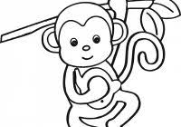 printable monkey coloring pages monkey coloring pages free coloring pages
