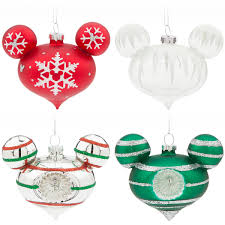 mickey mouse icon glass drop ornament set medium shopdisney