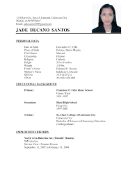 Sample Resume Undergraduate by Resume Sample For Undergraduate Resume Templates