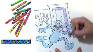 sesame street coloring book grover having fun crayons kids fun