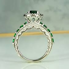 emerald rings wholesale images Vintage emerald green wedding rings women promise wedding couple jpg