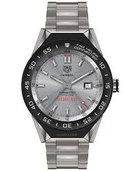 carrera watches tag heuer men u0027s swiss carrera titanium bracelet smart watch 45mm