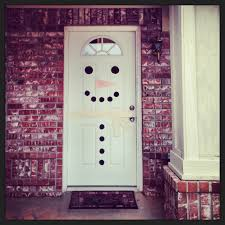 christmas snowman door decoration diy holidays pinterest