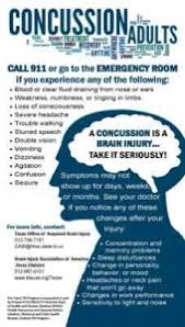concussion card for adults sided in tx