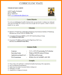 resume format for fresher 6 resume format for fresher ledger paper