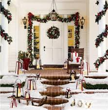 Pillars And Columns For Decorating Outdoor Christmas Decorations Garland Around Porch Columns