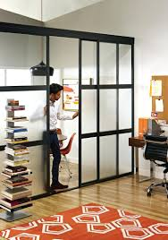 Bookcase With Sliding Glass Doors by Curtain Panel Room Dividers Tension Mount Divider Modernus Wood