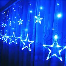 star shape led christmas lights 2 meteres 6 5 feet 12 stars