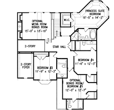 Floor 54 by European Style House Plan 5 Beds 5 50 Baths 3450 Sq Ft Plan 54 142