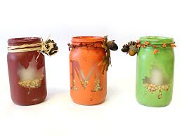 Mason Jar Candle Ideas How To Create Fall Monogram Mason Jar Candles Diy