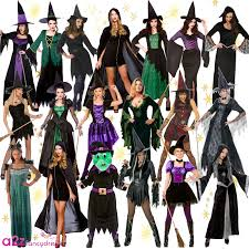 gothic halloween costumes ladies halloween gothic scary sorceress enchant witch fancy