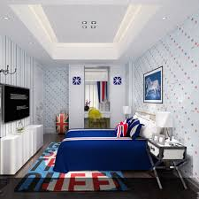 Bedroom Cartoon Aliexpress Com Buy Kids Room Stars Pattern Wallpaper Boys
