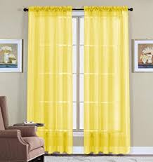 Bright Orange Curtains Amazon Com Wpm 2 Piece Beautiful Sheer Window Elegance Curtains