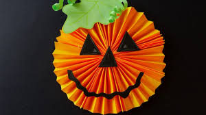 halloween paper pumpkin craft for kids youtube