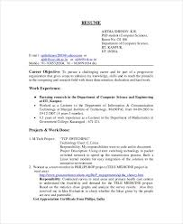 resume format for teachers freshers pdf merge b sc computer science fresher resume computer science resume