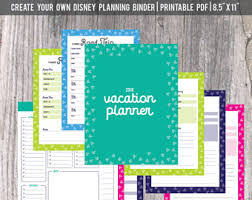 printable disney planning guide disney planning etsy
