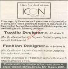 Resume For Fashion Designer Job by Textile Designer And Fashion Designer Job Opportunity 2017 Jobs