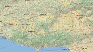 Earthquake Map Los Angeles by 2 7 Magnitude Earthquake Rattles Simi Valley Area Abc7 Com