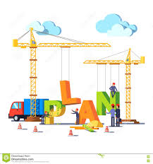 business construction site building word plan stock vector image