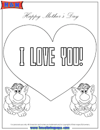 trolls from frozen movie say i love you coloring page free