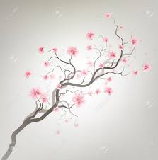 cherry blossom tree drawing drawing sketch library