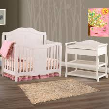 4 In 1 Crib With Changing Table Storkcraft 2 Piece Nursery Set Princess 4 In 1 Fixed Side