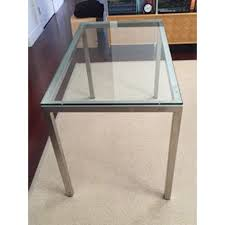 room and board custom table room board steel and glass custom parsons table chairish