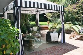 patio gazebo with stripes curtains useful outdoor gazebo