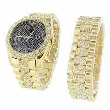 free set bracelet images Mens iced out watch free matching bracelet gift set lab created jpeg