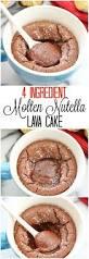 4 ingredient molten nutella lava mug cake kirbie u0027s cravings