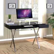 Large Black Computer Desk Wood And Glass Computer Desk 3 Foot Wide Computer Desk Desk