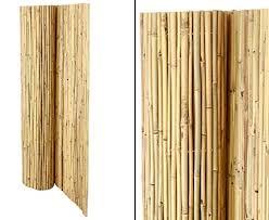 balkon trennwand bambus trennwand natürlicher sichtschutz für garten und balkon