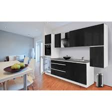 Kueche Kaufen Mit Elektrogeraeten Respekta Küchenzeile Glrp320hws Grifflos 320 Cm Schwarz Hochglanz