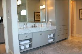 bathroom vanity with linen tower awesome bathroom vanities with linen tower renaysha with regard to