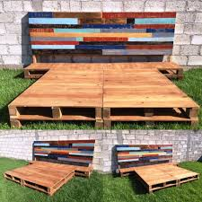 Pallet Platform Bed Diy Pallet Bed Frame With Headboard Pallet Platform Bed