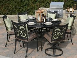 Bar Height Patio Set With Swivel Chairs Patio U0026 Pergola Beautiful Round Patio Table And Chairs In