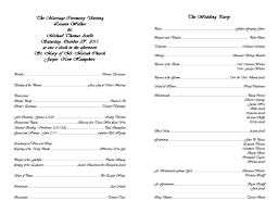 Wedding Ceremony Program Template Free Catholic Wedding Program Template Lareal Co