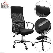 homcom ergonomic office high back mesh chair aosom ca