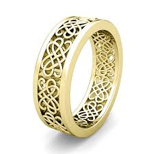 celtic knot wedding bands custom celtic heart knot wedding band ring for men and women