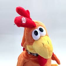 a rooster toys singing musical chicken stuffed