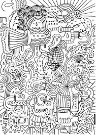 printable coloring pages adults abstract flowers 2908